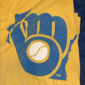 Vintage Milwaukee Brewers Yellow T-Shirt
